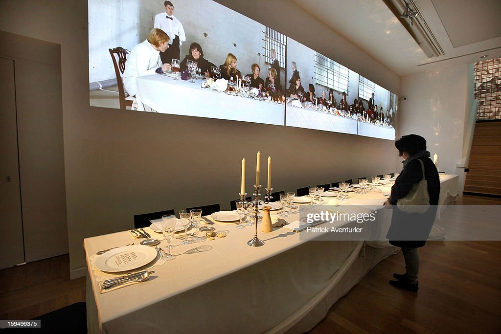 'Love Dinner' of the Cypriot artist Lia Lapithi is seen at the Granet museum during the contempory art exhibition for Marseille-Provence 2013 European Capital of Culture on January 13, 2013 in Aix-en-Provence, France.