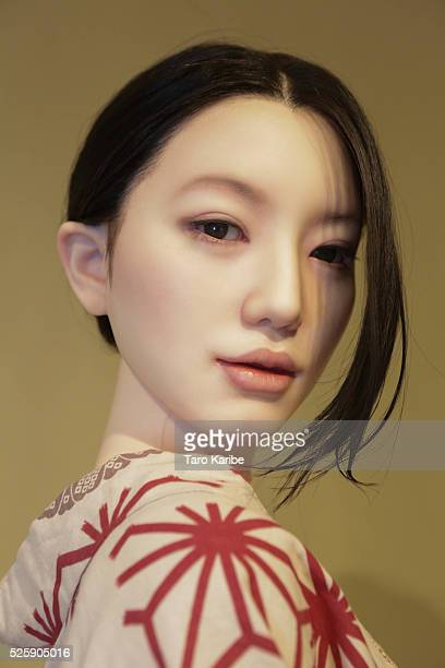 Love Doll is exhibited at Vanilla Gallery on April 28 2016 in Tokyo Japan Japanese sex doll maker Orient Industry exhibited their life size Love...