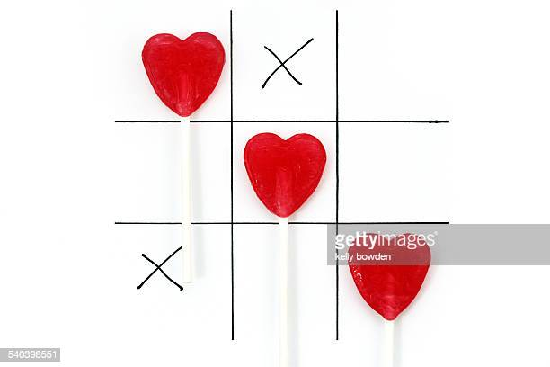 Love games hearts and kisses