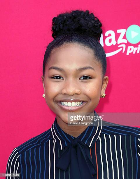 Actress Laya DeLeon Hayes attends the premiere of Amazon Studios' 'An American Girl Story Melody 1963 Love Has to Win' at Pacific Theatres at The...