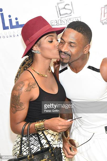 Love Hip Hop Atlanta stars Joseline Hernandez and Stevie J attends the LudaDay Celebrity Basketball Game at Georgia State University Sports Arena on...