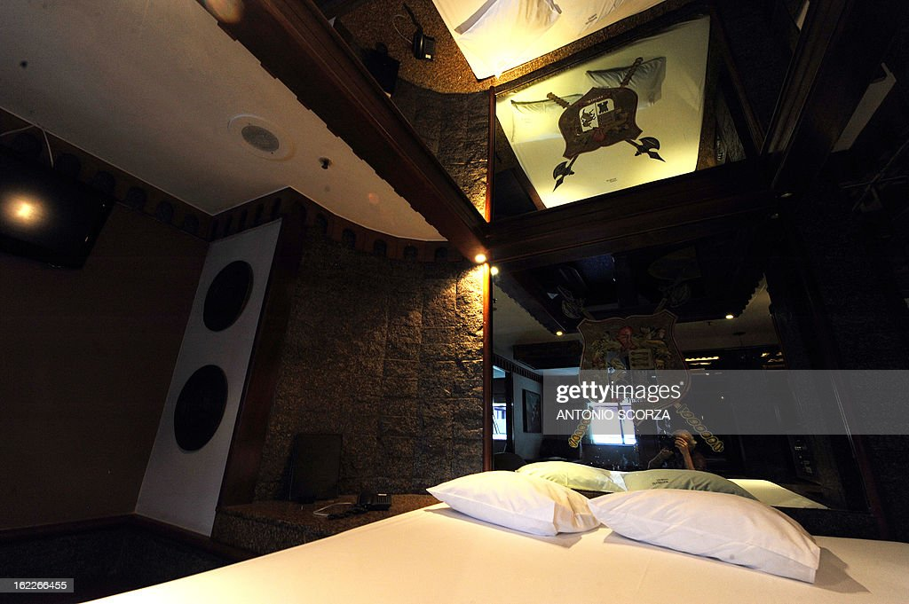 A 'love hotel' room is seen in Rio de Janeiro, Brazil on February 21, 2013. Love hotels are being reformed into regular hotels in an effort to meet the demands expected during the FIFA World Cup Brazil 2014.