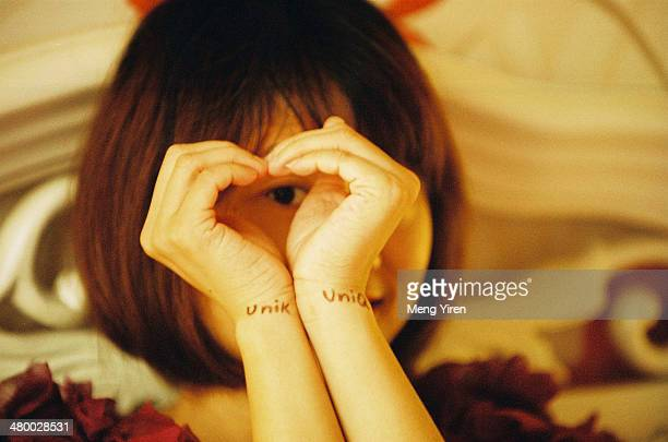 Love in the girl's eyes