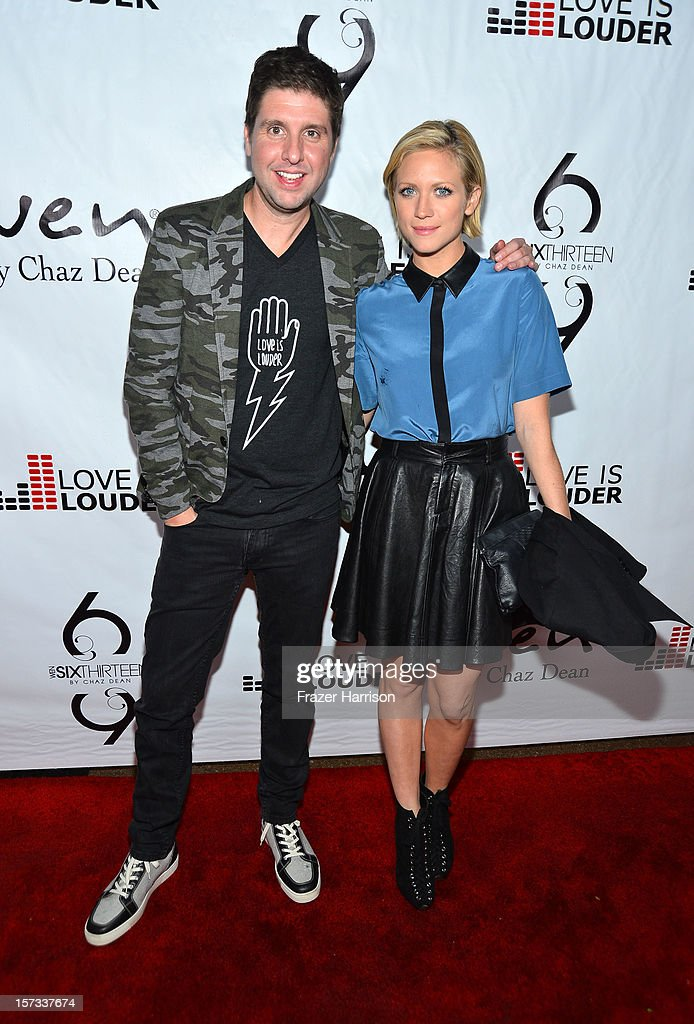 Love is Louder Director Courtney Knowles and actress Brittany Snow arrives at Chaz Dean's Holiday Party Benefitting the Love is Louder Movement on December 1, 2012 in Los Angeles, California.