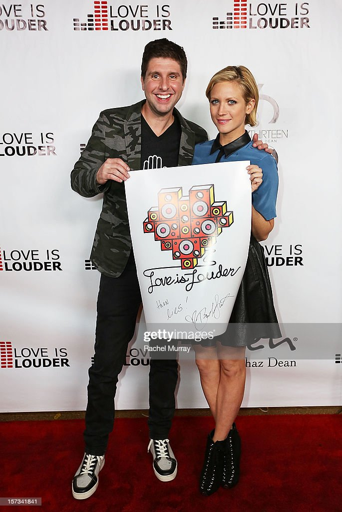 Love is Louder Director Courtney Knowles (L) and actress Brittany Snow attend Chaz Dean's holiday party benefitting the Love is Louder Movement on December 1, 2012 in Los Angeles, California.