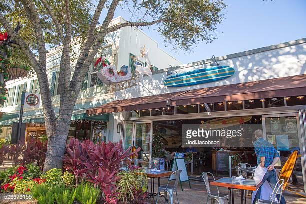 Love Local:  Waiter standing outside Downtown Palm Beach restaurant