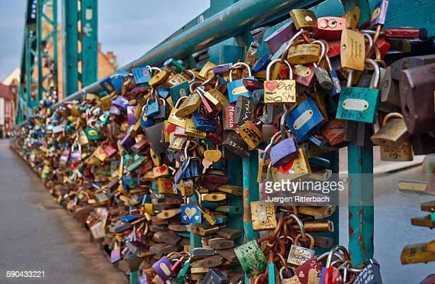 love locks or padlocks at Tumski Bridge