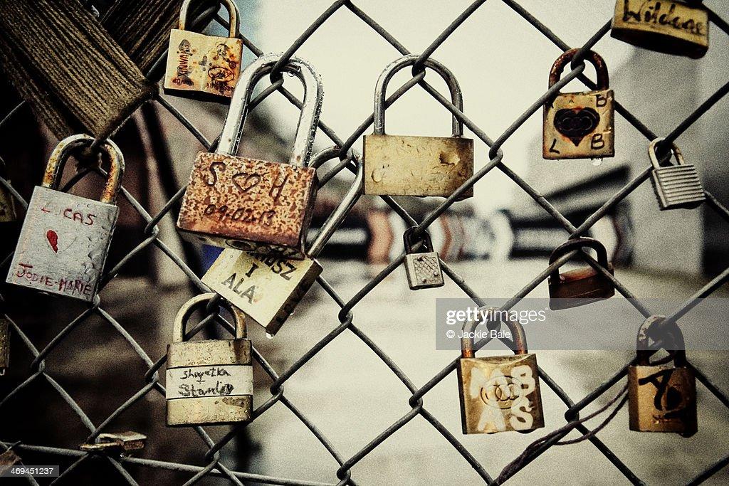 Love locks : Stock Photo