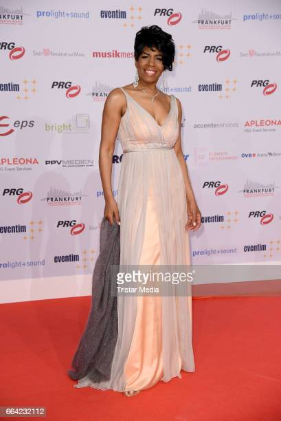 Love Newkirk attends the LEA PRG Live Entertainment Award 2017 at Festhalle Frankfurt on April 3 2017 in Frankfurt am Main Germany