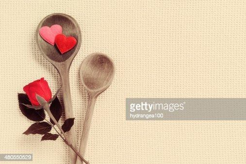 Disfrutar de la cocina refinada : Foto de stock