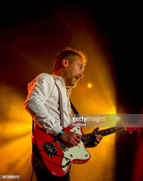 Love Of Lesbian performs on stage during Ebrovision Music Festival on September 2 2017 in Miranda de Ebro Spain