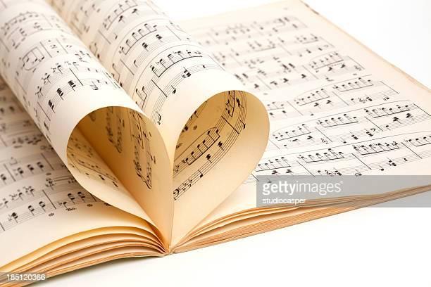 love of music, old score sheet
