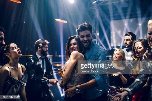 Love on the dance floor : Stock Photo