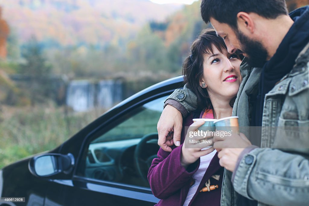 Love on the road : Stock Photo