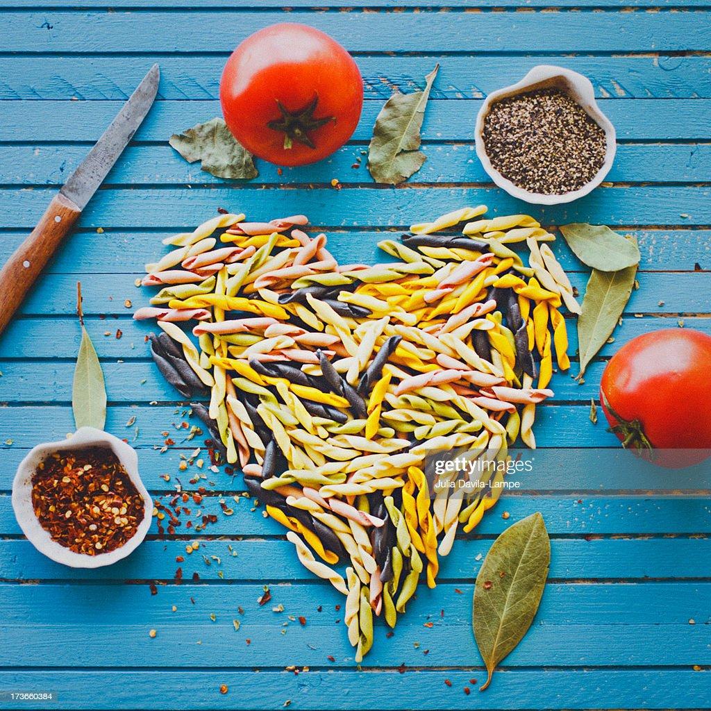 Love pasta : Stock Photo