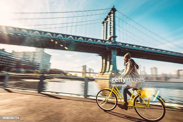 Ich liebe mein Fahrrad fahren in Brooklyn