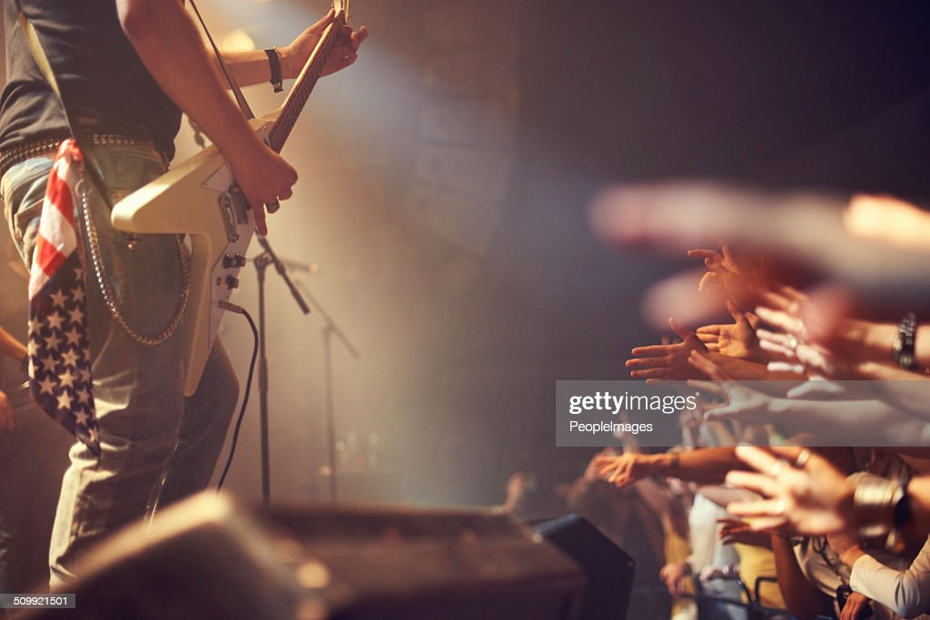 I love rock and roll : Stock Photo