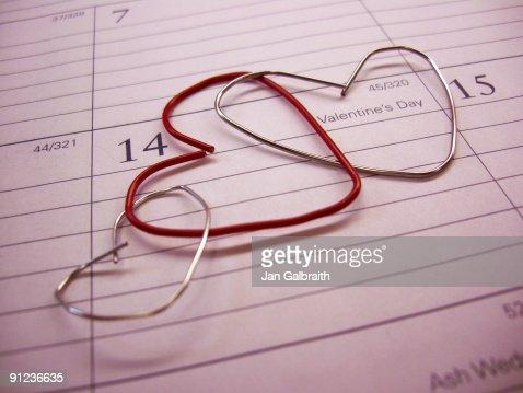 Love sign calendar : Stock Photo