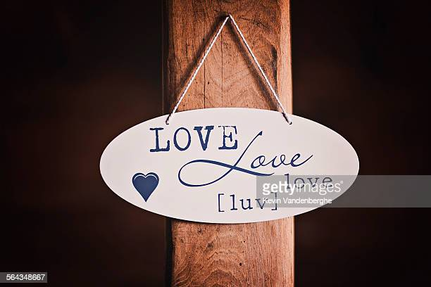 Love sign on the wall