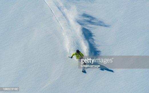 I love skiing in Powder snow : Stock Photo