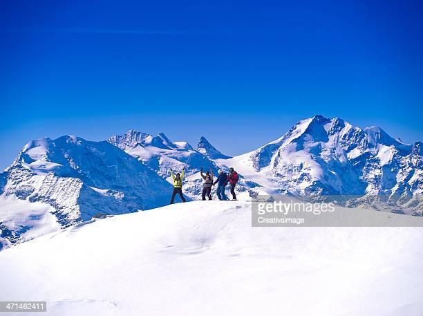 J'adore faire du ski dans la poudreuse