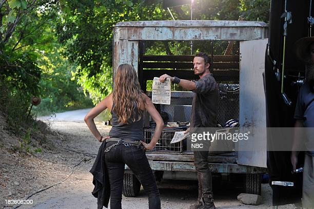 REVOLUTION 'Love Story' Episode 203 Pictured Tracy Spiridakos as Charlie Matheson David Lyons as Sebastian Monroe
