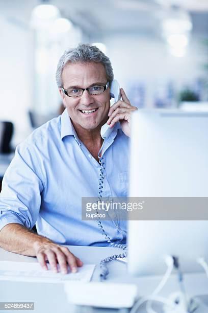 Ich liebe Gespräch mit Kunden die altmodische Art