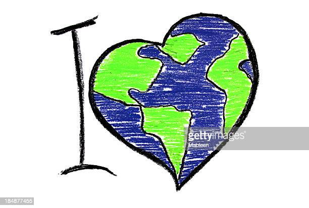 I love the earth illustration for earth day