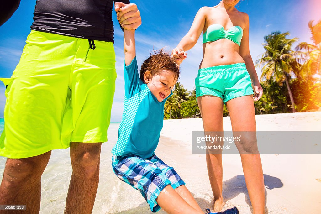 Love to play on the beach : Stock Photo