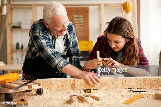 Love to spend time with grandpa at woodshop