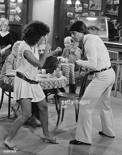 TAXI 'Love UnAmerican Style' Episode 1 Aired 9/30/82 Pictured Anne De Salvo as Vicki DeStefano Tony Danza as Tony Banta Photo by NBCU Photo Bank