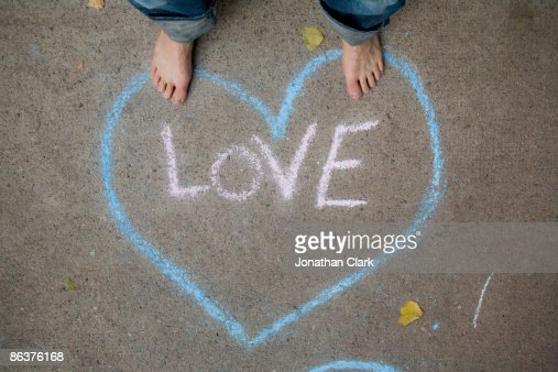 Love written in chalk