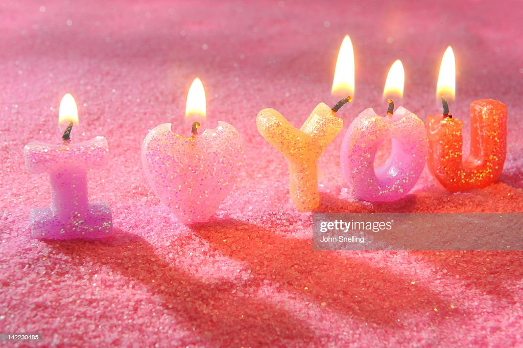I love you candles : Stock Photo