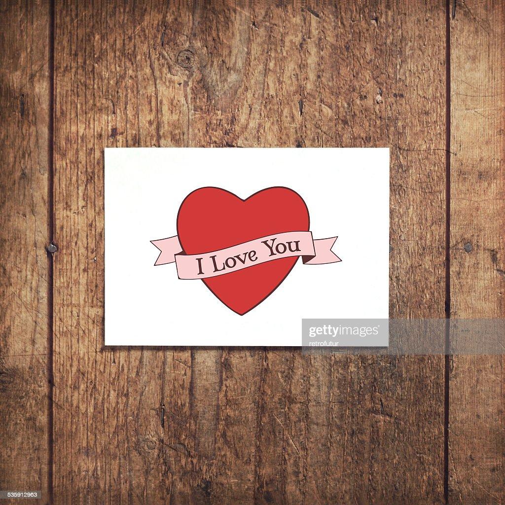 I love you : Stock Photo