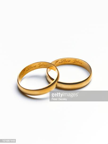 I love you wedding rings