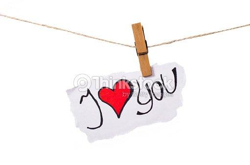 I Love Youfrase Em Inglês Palavras E Coração Símbolo Dia Dos