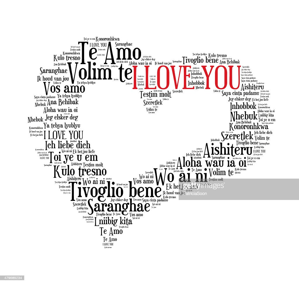 I love you in world languages