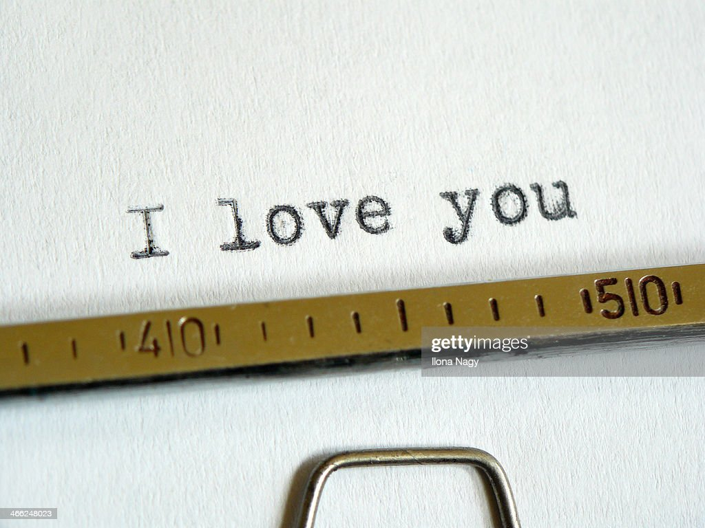 'I love you' written by an old typewriter : Stock Photo