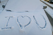 I love you written in the snow