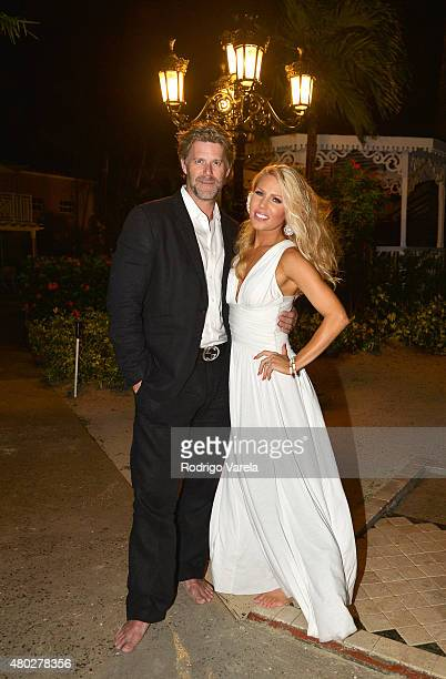 Lovebirds Gretchen Rossi and Slade Smiley are spotted enjoying their vacation at Sandals Grande Antigua Resort Spa July 8 2015 in St John's Antigua...