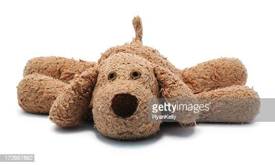 A loved child's dog stuffed animal