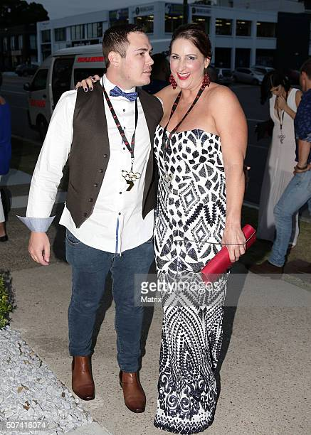 Loved up MKR contestants Matt and Cheryl at eh MKR launch on January 27 2016 in Brisbane Australia