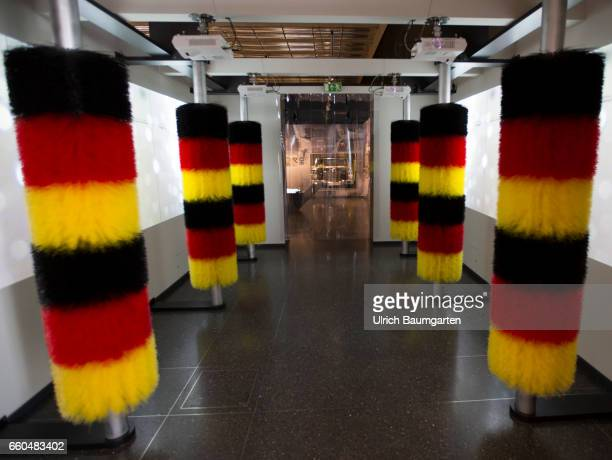 Loved Used Hated The Germans and their Cars Exhibition at the House der Geschichte of the Federal Republic of Germany in Bonn 'Car wash' in black red...
