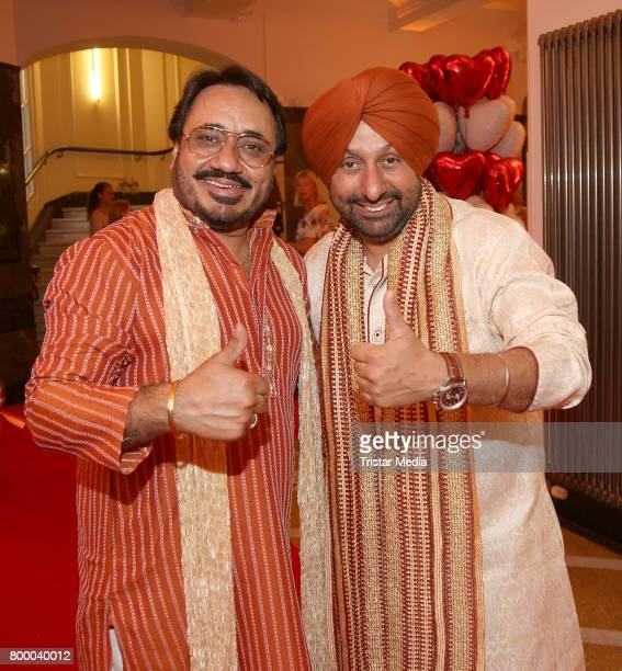 Lovely Bhangu and Monty Bhangu alias Bhangu Brothers attend the Charity Evening 'Das kleine Herz im Zentrum' at Curio Haus on June 22 2017 in Hamburg...