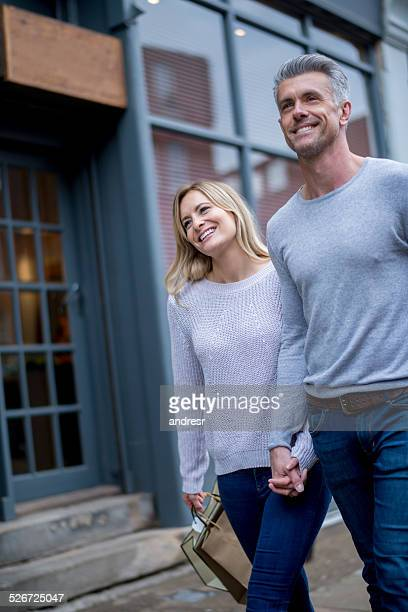 Lovely shopping couple