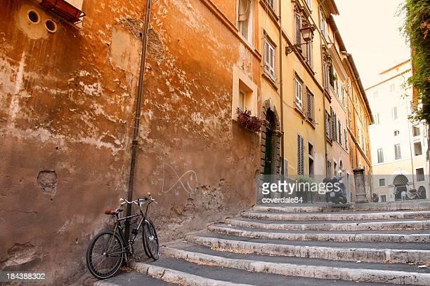 Lovely street in Rome, Italy