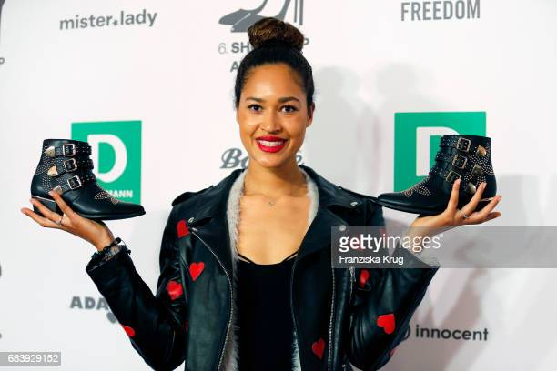 Lovelyn Enebechi attends the Deichmann Shoe Step of the year award at Curio Haus on May 16 2017 in Hamburg Germany