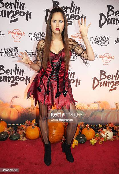 Lovelyn Enebechi attends the Halloween party at Berlin Dungeon on October 27 2015 in Berlin Germany