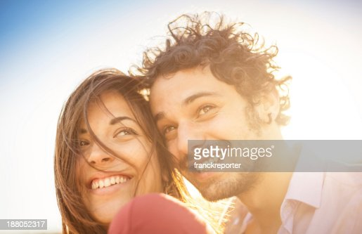 lover flirting portrait