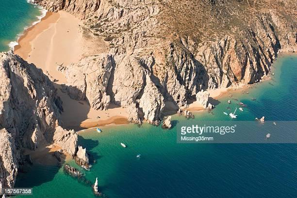 Praia dos Amantes vista aérea de Cabo San Lucas